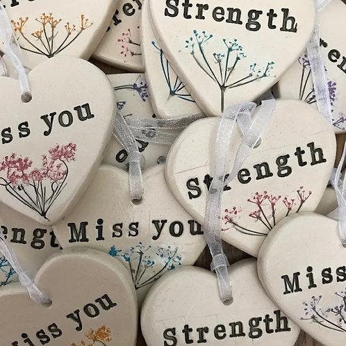 Botanic Mindfulness Ceramic Hearts