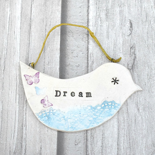 Inspirational Ceramic Bird - Dream