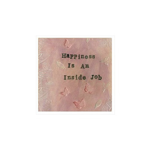 Happiness Mounted Mixed Media Art Print