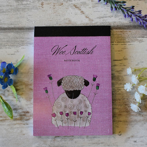 Mini Scottish Notebook Sheep