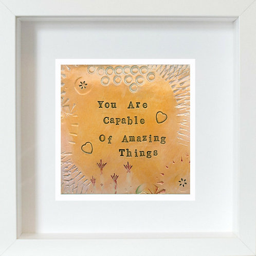 Amazing Framed Mixed Media Art Print