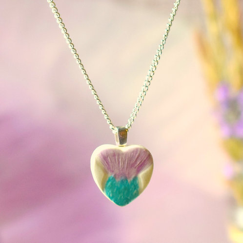 Little Thistle Heart Necklace