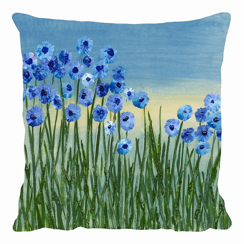 Forget me not meadow Cushion