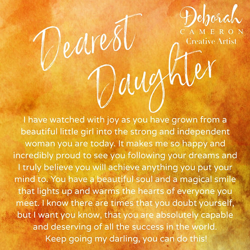 Dearest Daughter Coaster