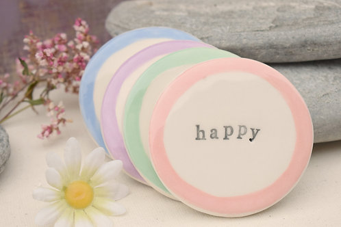 Hopes and Dreams Mixed Colours Coasters x4