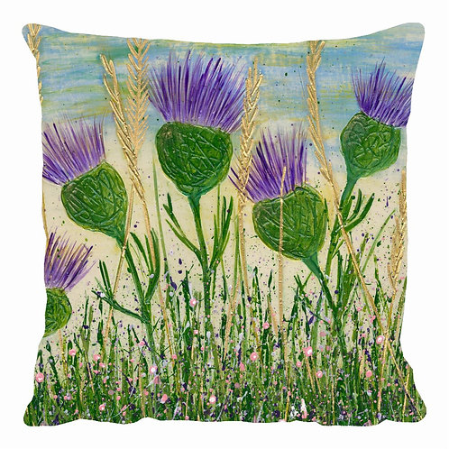 Dancing Thistles Cushion