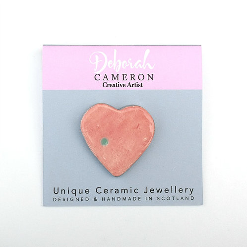 Compassion Embrace Heart Brooch