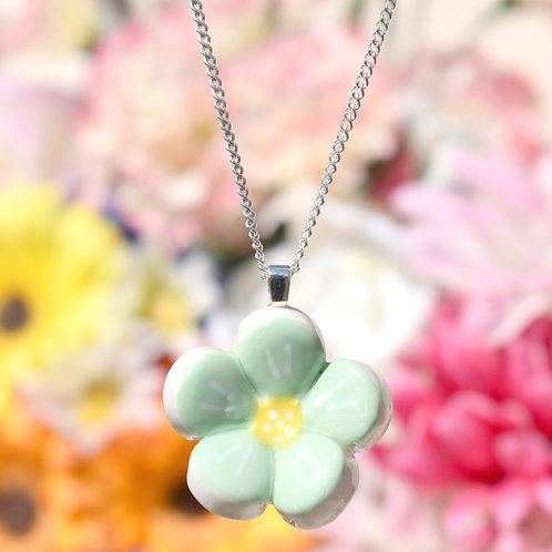 Mint Green Little Flower Necklace