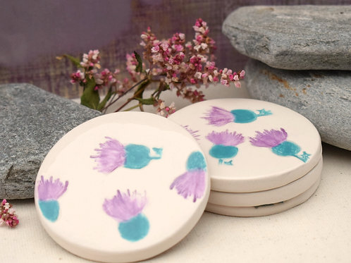 Little Thistle Patch Round Coasters x4