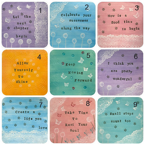 Positive Quote Coasters 3