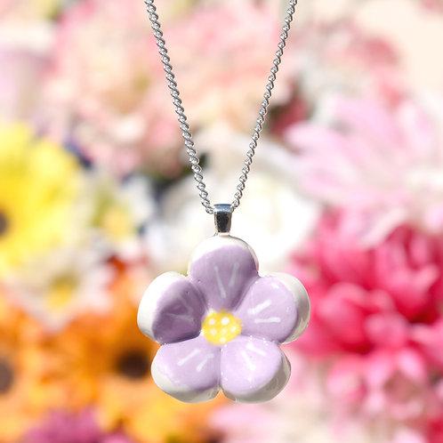 Lilac Little Flower Necklace