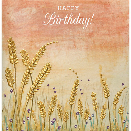 Sunset Barley Birthday Card