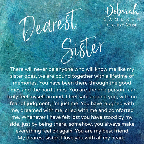 Dearest Sister Coaster