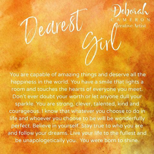 Dearest Girl Coaster