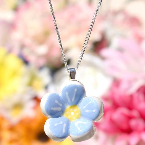 Sky Blue Little Flower Necklace