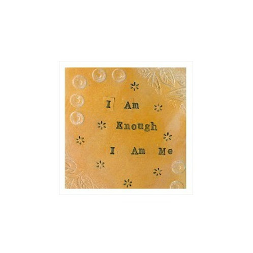 I Am Me Mounted Mixed Media Art Print