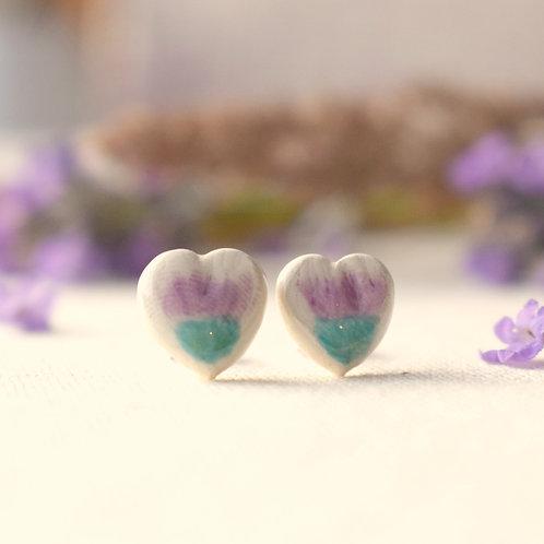 Little Thistle Heart Earrings