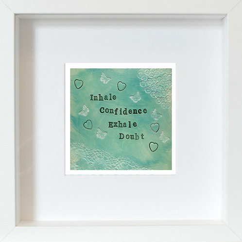 Confidence Framed Mixed Media Art Print