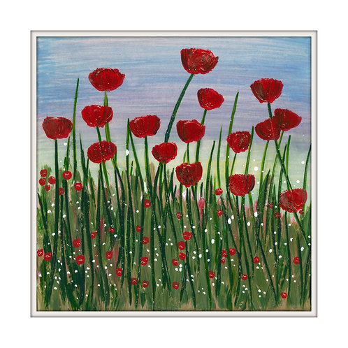 Poppy Fields Mounted Art Print