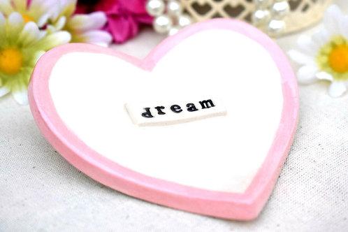 Dream Ceramic Heart Trinket Dish