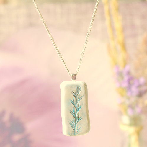 Rectangle Sky Country Heather Necklace