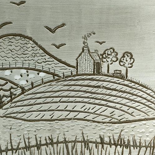 Sgraffito Farm Art Print