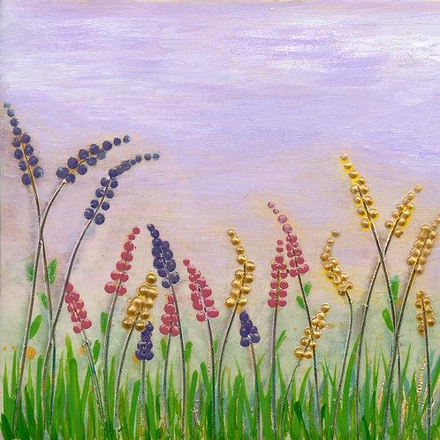 Lupin Meadow Mounted Art Print