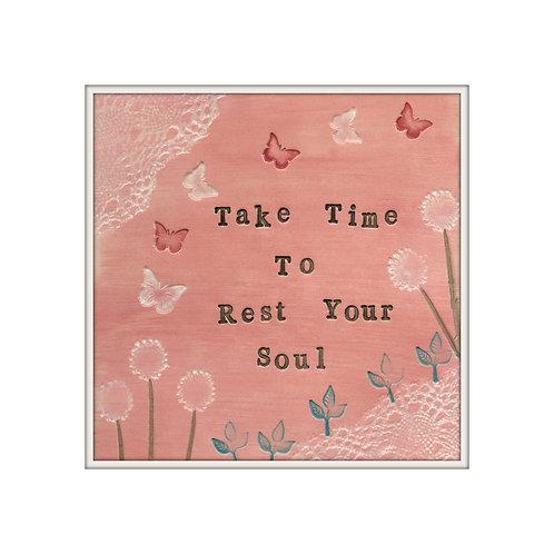 Rest Your Soul Mixed Media Art Print