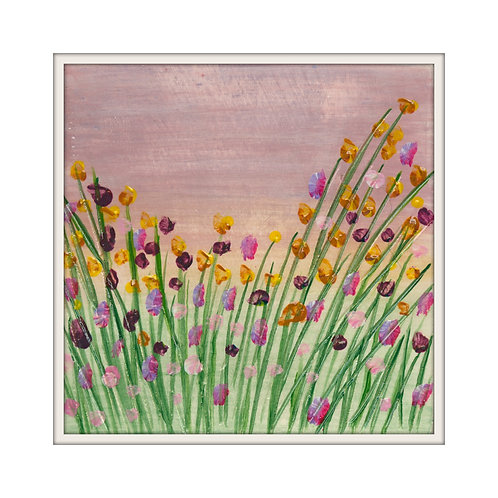 Country Garden Mounted Art Print