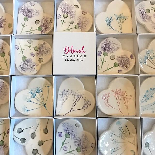 Wild Flower Handmade Trinket Dishes
