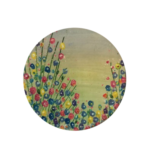 Blooms In Summer Ceramic Coaster