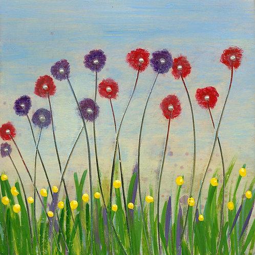 Summer Meadow Mounted Art Print