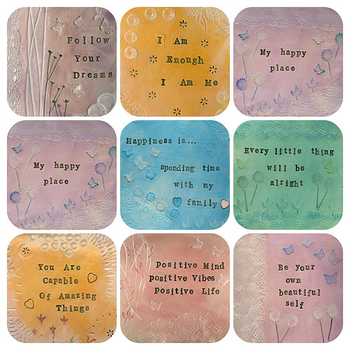 Positive Life Quotes Coaster Selection
