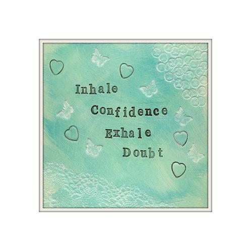 Confidence Mixed Media Art Print