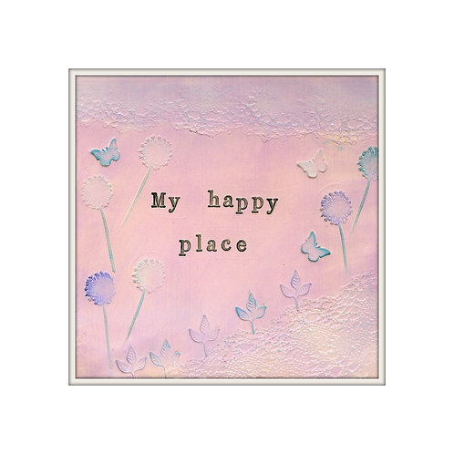 My Happy Place Mixed Media Art Print