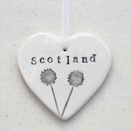 Ceramic Scottish Wish Heart