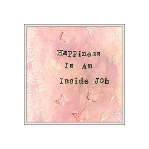 Happiness Mixed Media Art Print