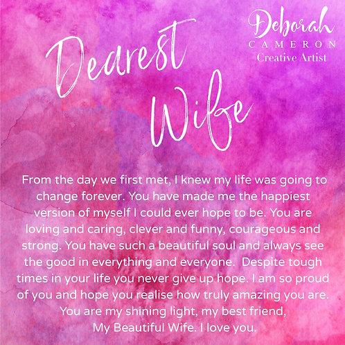 Dearest Wife Coaster