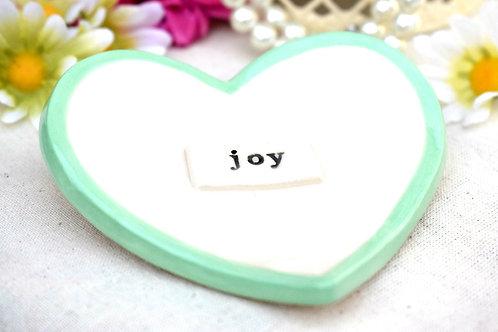 Joy Ceramic Heart Trinket Dish
