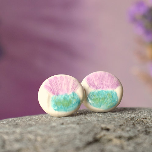 Little Thistle Round Earrings