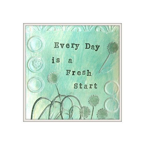 Fresh Start Mixed Media Art Print