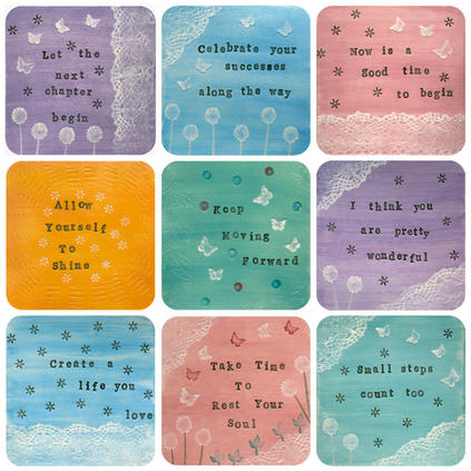 Positive Quote Coasters