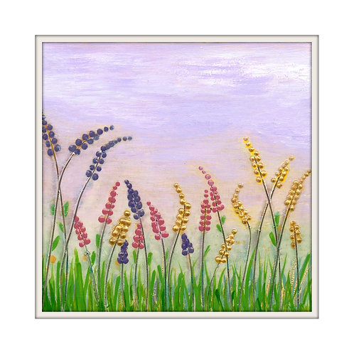 Lovely Lupins Mounted Art Print