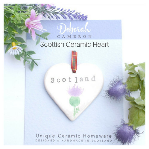 Scotland Ceramic Heart