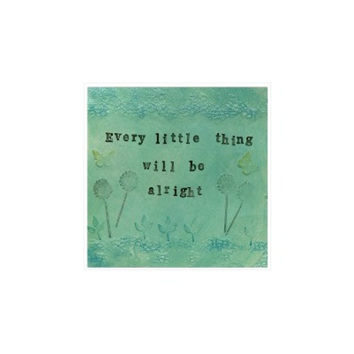 Every Little Thing Mounted Mixed Media Art Print