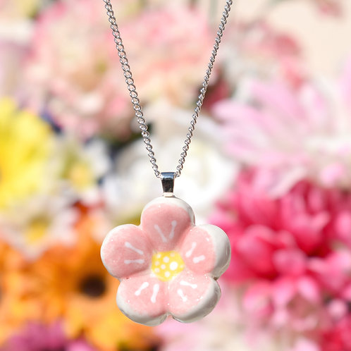 Pink Little Flower Necklace