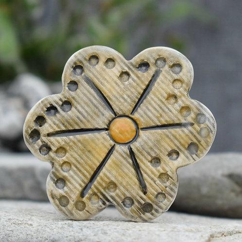 Mustard Flower Brooch
