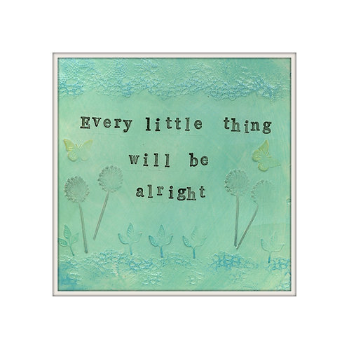 Every Little Thing Mixed Media Art Print