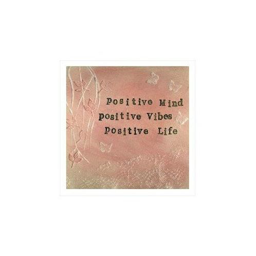 Positive Life Mounted Mixed Media Art Print