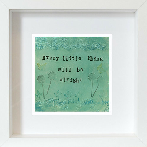 Every Little Thing Framed Mixed Media Art Print